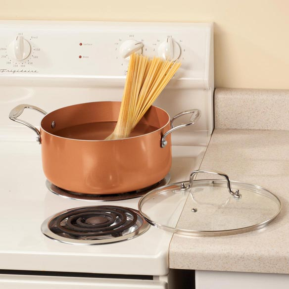 Ceramic Non-Stick Stock Pot with Lid, 5-qt. - View 1