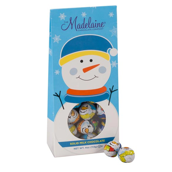 Madelaine® Snowmen Solid Milk Chocolate Balls - View 1