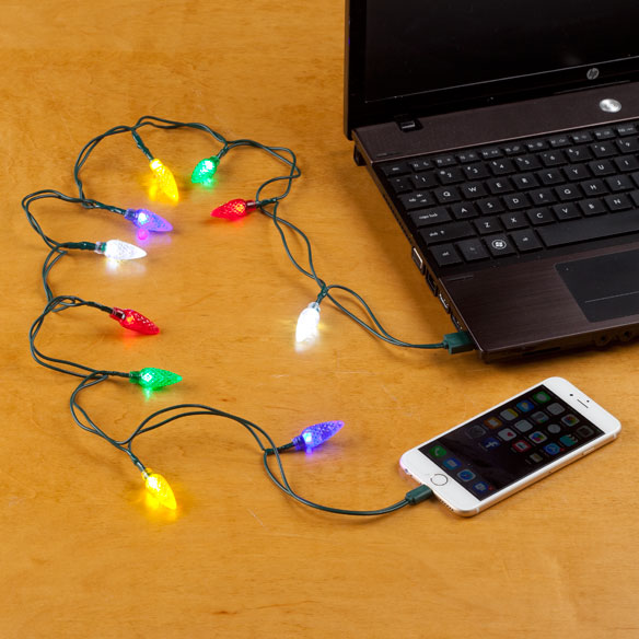 Holiday Bulb Iphone Charger Cord