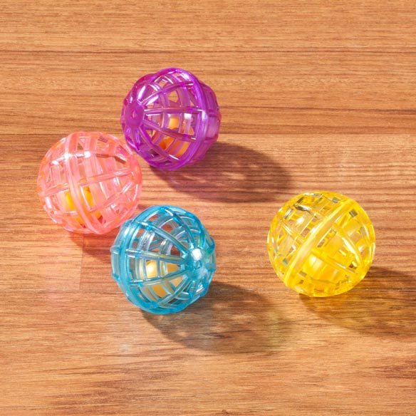 Lattice Balls with Bells, Set of 4 - View 1