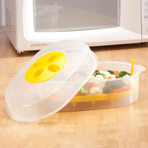 Kitchen Living Food Steamer: Microwave Steamer Basket