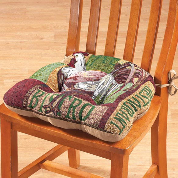 Reversible Rooster Plaid Chair Pad