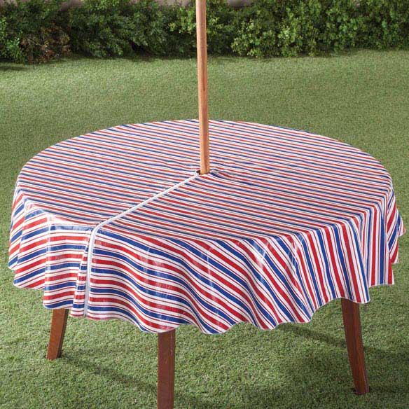 Patriotic Zippered Umbrella Table Cover Outdoor Covers