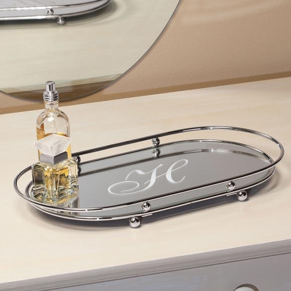 Personalized Glass Vanity Tray Vanity Tray Mirror Tray Miles Kimball