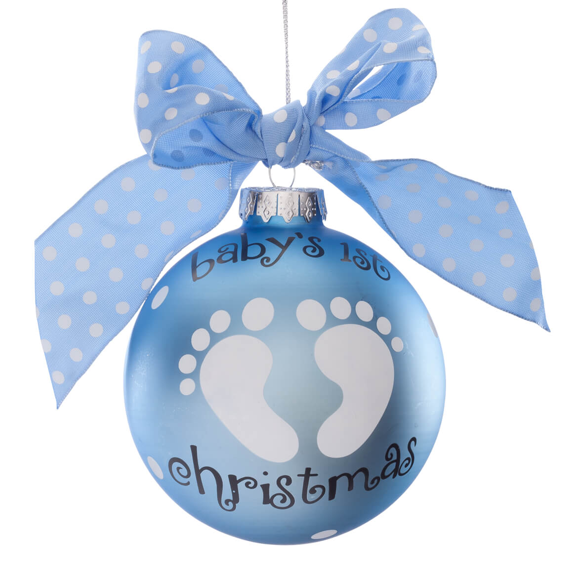 Personalized quot baby s st christmas glass ball ornament