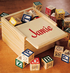 Personalized Box Of Blocks