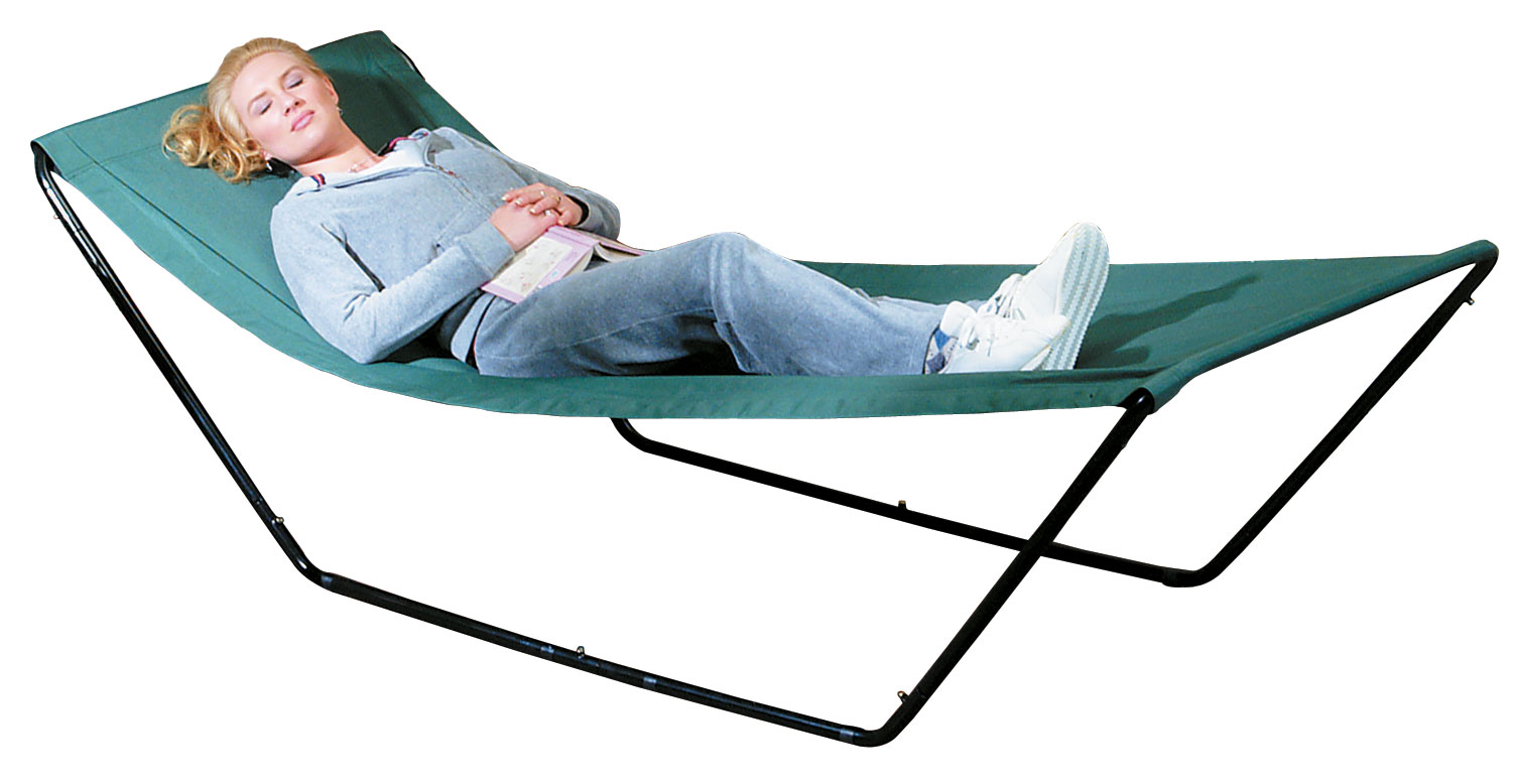 Miles Kimball Portable Hammock With Stand and Carrying Bag blue