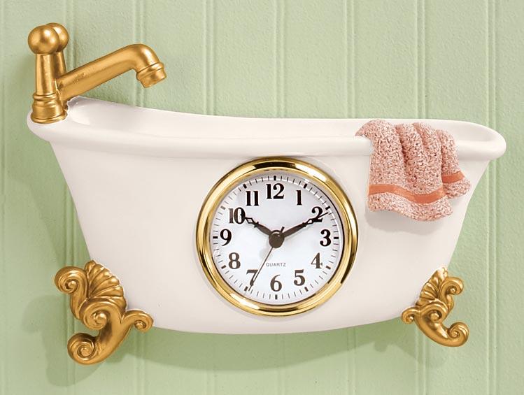 Bathtub clock ebay for Bathroom clock ideas